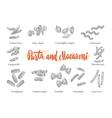 italian cuisine elements set vector image vector image