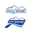 kayak-logo vector image vector image