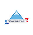 logo with of alpine mountain vector image