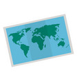 map paper isolated icon vector image vector image