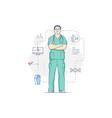 medic man in glasses vector image