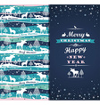 Merry Chrismas background with Typography vector image vector image
