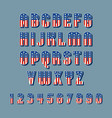 patriotic font w american flag stars and stripes vector image