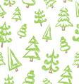 pattern with christmas tree vector image vector image
