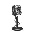 Retro monochrome microphone icon vector image vector image