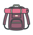 rucksack backpack designed for traveling people vector image vector image