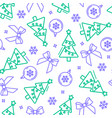 seamless pattern from new year symbols vector image
