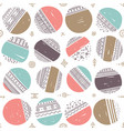 seamless pattern with ethnic tribal boho circles vector image vector image