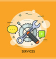 services thin line concept vector image vector image