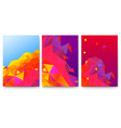 set of covers with abstract geometric surfaces vector image vector image