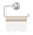 toilet paper on holder 02 vector image vector image