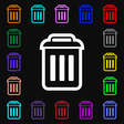 trash icon sign Lots of colorful symbols for your vector image vector image