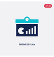 two color business plan icon from business and vector image vector image