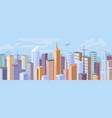 urban building skyscrapers modern city panorama vector image vector image
