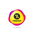 verkauf - sale in german sign icon star vector image vector image