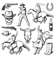 Vintage Rodeo Elements Set vector image vector image