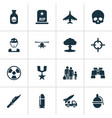 warfare icons set collection of danger target vector image vector image