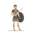 warrior character man in historical armor