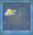 Weather widget template 3 vector image vector image