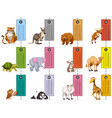 wild animals and time tables template vector image vector image