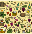 winery seamless pattern for your design vector image