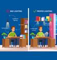 workplace illumination cartoon composition vector image
