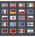 World flags as stamps vector image vector image
