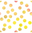 Yellow watercolor polka dot vector image vector image