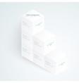 3d white cubes vector image