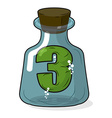 Three in bottle for scientific research Figure 3 vector image