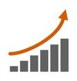 Top graph vector image