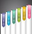 Bookmark Labels Arrow vector image