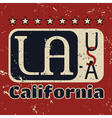 Los Angeles city Typography Graphic Grunge 1 vector image