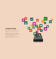 mobile internet concept vector image