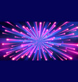 abstract neon color big bang fireworks vector image
