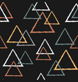 abstract seamless pattern with triangles in pastel vector image