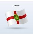 Alderney flag waving form vector image vector image