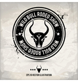 alternative bull stamp vector image