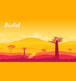 baobab tree in namibia africa land page vector image