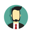 bearded businessman suit graphic vector image