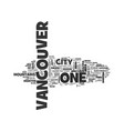 beautiful vancouver city of the sea mountains vector image vector image