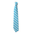 blue striped tie icon isometric style vector image