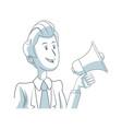 business man holding speaker advertising marketing vector image vector image