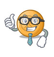 businessman cartoon lacrosse balls are placed in vector image