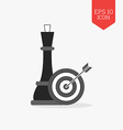 Chess queen and target with arrow icon Strategy vector image vector image