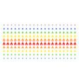 christian church shape halftone spectral array vector image vector image