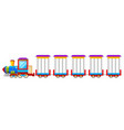 circus train isolated on white background vector image vector image