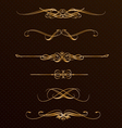 Classic golden design elements vector image vector image