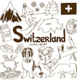 collection switzerland icons vector image vector image