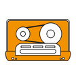 color silhouette image of tape cassette vector image vector image